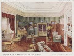 Edwardian drawing room interior
