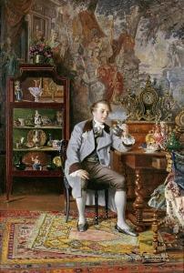 The connoisseur by Johann Hamza (1850-1927)