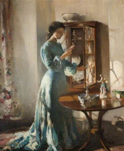The China Cabinet by Henry Tonks c.1902