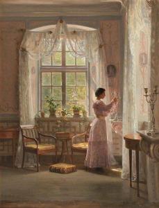Interior Liselund Castle By Georg Achen(1860-1912)