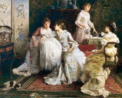 Afternoon Tea by Alexander Rossi(1840-1916)