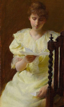 Lady in Yellow by Charles Courtney Curran 1893(部分)