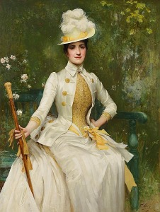 Portrait of Mrs Lockett Agnew (1887-88), Sir Samuel Luke Fildes