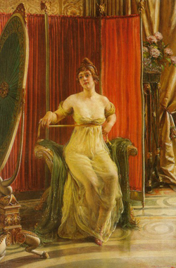 A Ladyby in her Boudoir by Charles Joseph Frederic Soulacroix