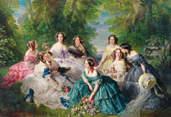 Portrait collectif avec l'impératrice Eugénie de Montijo by Franz Xaver Winterhalter 1885