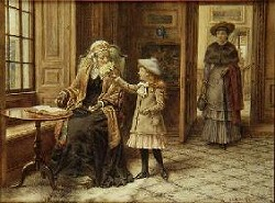 Posy for Grandma by George Goodwin Kilburne (1839–1924, English)