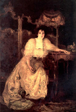 "Mrs. Patrick Campbell as ""Paula Tanqueray""by Solomon Joseph Solomon 1894"