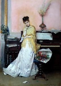 Le Bouquet by Raimundo de Madrazo y Garreta (1841-1920)