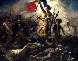 Commemorates the French Revolution of 1830 (July Revolution) on 28 July 1830  by Eugene Delacroix