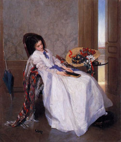 After a Walk by Gustave de Jonghe 1829-1893