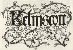 Kelmscott Press Colophon by William Morris