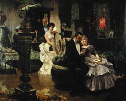 Solomon Joseph Solomon/A Conversation Piece/1886