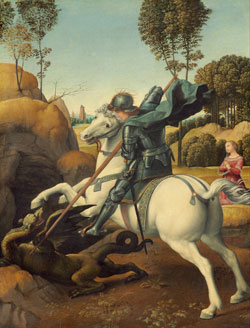 St George Fighting the Dragon by RAFFAELLO Sanzio1503-05
