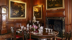 Dining room at Antony House, National Trust