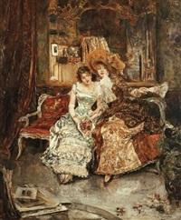 Mujeres by Eduardo Leon Garrido (Spanish, 1856-1949)