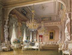 Interiors of the Mansion of Baron A. L. Stieglitz by Luigi Premazzi (Italian, 1814-1891)