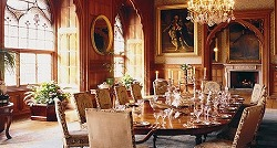 Mount Stuart, dinning room in Scotland