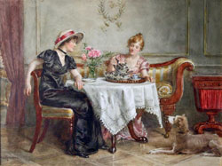 Tea for two by George Goodwin Kilburne(1839-1924)