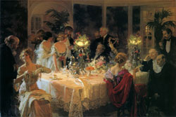 The End of Dinner by Jules-Alexandre Grun 1913