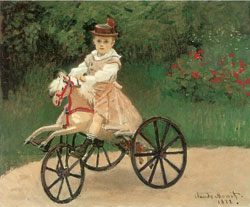 Jean Monet On His Horse Tricycle by Claude Monet1872