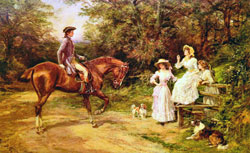 A Meeting by the Stile by Heywood Hardy1842-1933
