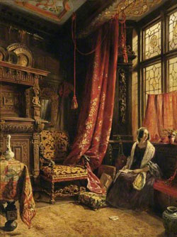 An Antique Interior at West Hill House, Hastings by Willam Collingwood1842