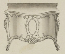 Design for a commode attributed to Thomas Chippendale ca.1760 (designed) V&A