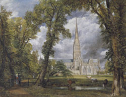 Salisbury Cathedral from the Bishops Ground c.1823  by John Constable