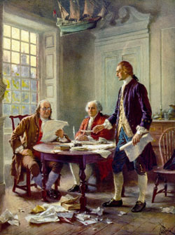 Writing the Declaration of Independence, 1776 by Jean Leon Gerome Ferris(1863-1930)