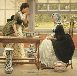 """poppourri""by George Dunlop Leslie(1835-1921)"