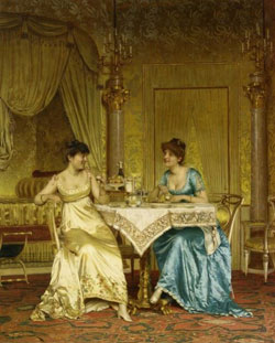 Breakfast Gossop by Charles Joseph Frederick Soulacroix(1825-1899)