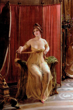 in the dressing room by Frederic Soulacroix/1825-1879