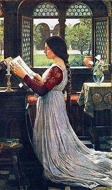 The Missal by John William Waterhouse (1902). Image:Wikipedia, Public domain