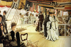 The Ball on shipboard by James Tissot 1874
