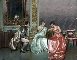 Who Wins? by Vittorio Reggianini (1858-1938)