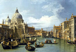 The Grand Canal and the Church of the Salute, by Canaletto 1730