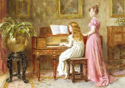 The Music Room by George Goodwin Kilburne/1839-1924