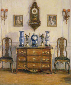An Interior by Willam Benjamin Chamberlin 1858-c1934
