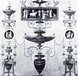 A design for one of the walls of the Estruscan dressing room at Osterley Park by Robert Adam