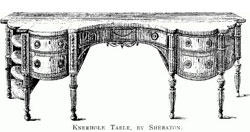 Kneehole Table by Sheraton