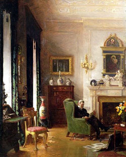 The Grey Drawing Room by Albert Chevallier Tayler/1862–1925