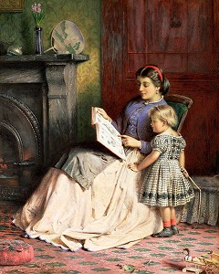 Mother and Daughter by George Goodwin Kilburne (1839–1924 London)