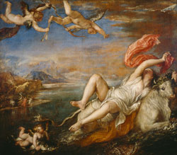 """Abduction of Europa"" by Tiziano Vecellio/1560-1562"