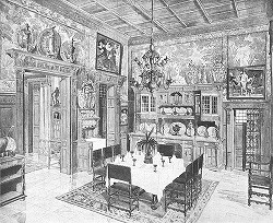 19th Century Dining Room of an Upper Middle Class House