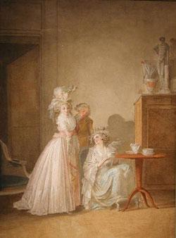 Tea Time by Jean-Baptiste Mallet/1759-1835
