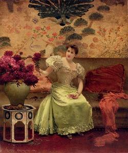 An Elegant Arrangement by Georges Croegaert (1848-1923)