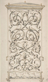 Design for Back of a Sedan Chair by Anonymous, French, 18th century