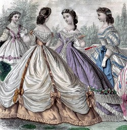 Ladies Evening Dress in 19th century