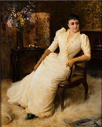 MADAME COHEN , 1890 by Albert Edelfelt (Finnish, 1854-1905)