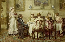 Christmas Day by George Goodwin Kilburne (English, 1839-1924)